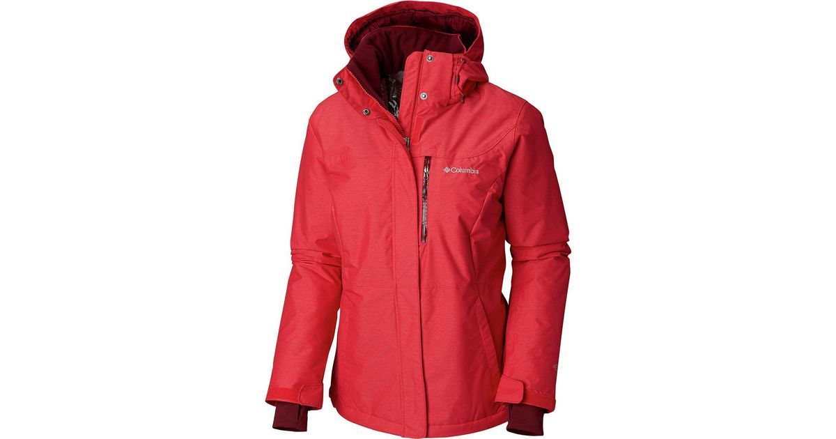 d7649680b557a Lyst - Columbia Alpine Action Omni-heat Hooded Jacket in Red