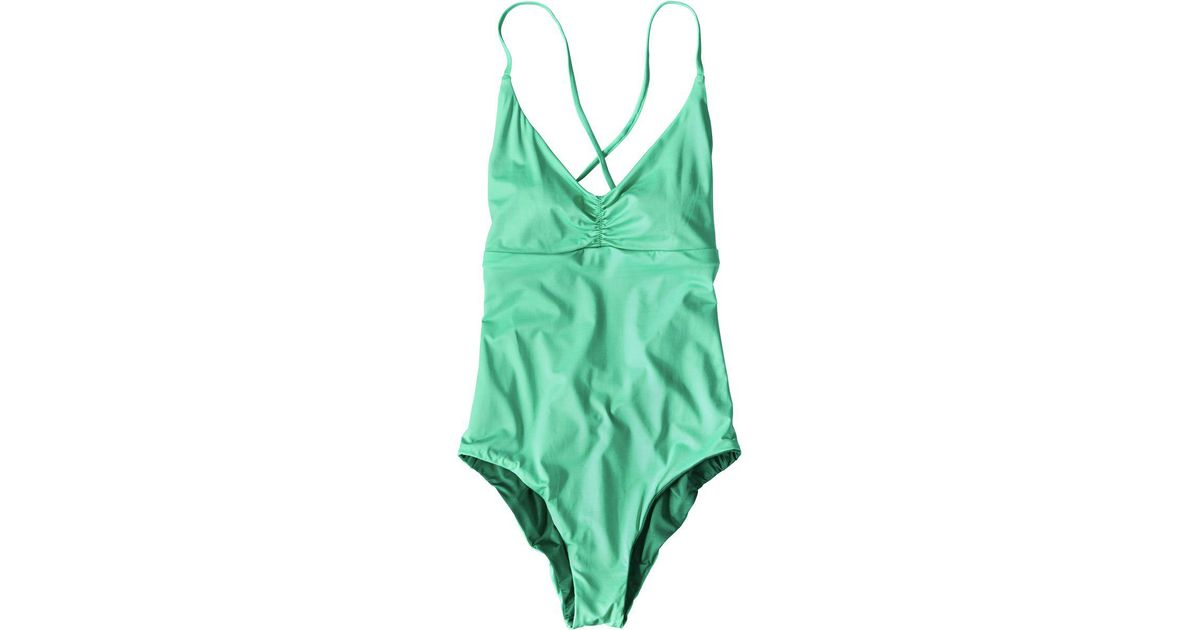 6f057146e0 Lyst - Patagonia Kupala Reversible One-piece Swimsuit in Green