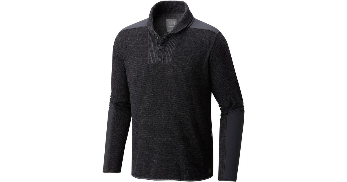 Mountain hardwear Mtn Tactical Fleece Pullover in Black for Men ...