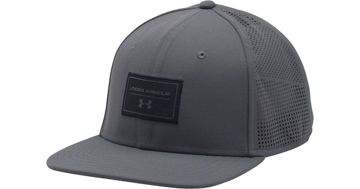 Lyst - Under Armour Supervent Flat Brim Snapback Hat in Black for Men 2aeef1cdb3b