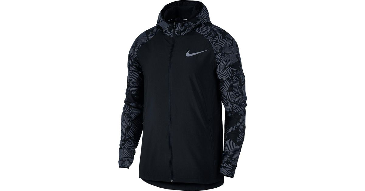 c5d6c0c2e0 Nike Essential Flash Running Jacket in Black for Men - Lyst