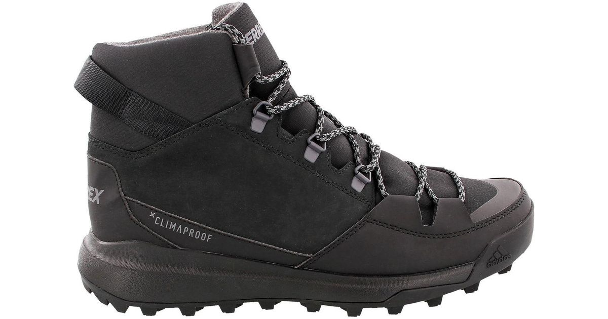 3d0549696eb5 Lyst - adidas Originals Cw Winterpitch Mid Cp Leather Boot in Black for Men