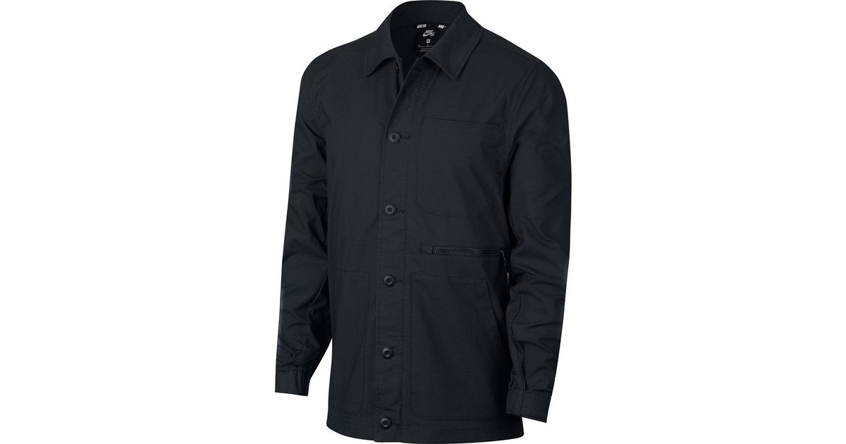 ba589347 Nike Sb Flex Coaches Chore Jacket in Black for Men - Lyst