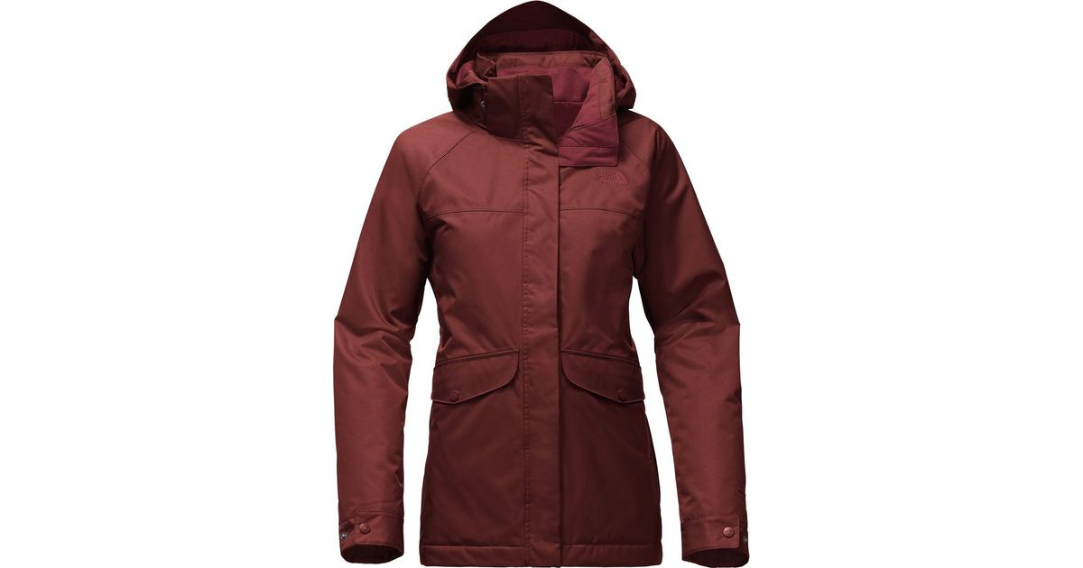 e7c8378ec8da ... discount lyst the north face merriwood triclimate hooded 3 in 1 jacket  in red faf8b db33d