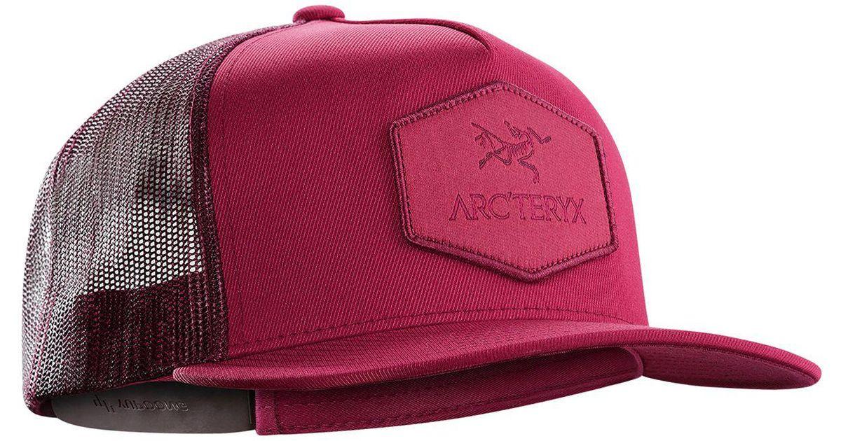 9496e1c0866bc Arc teryx Hexagonal Patch Trucker Hat in Red for Men - Lyst