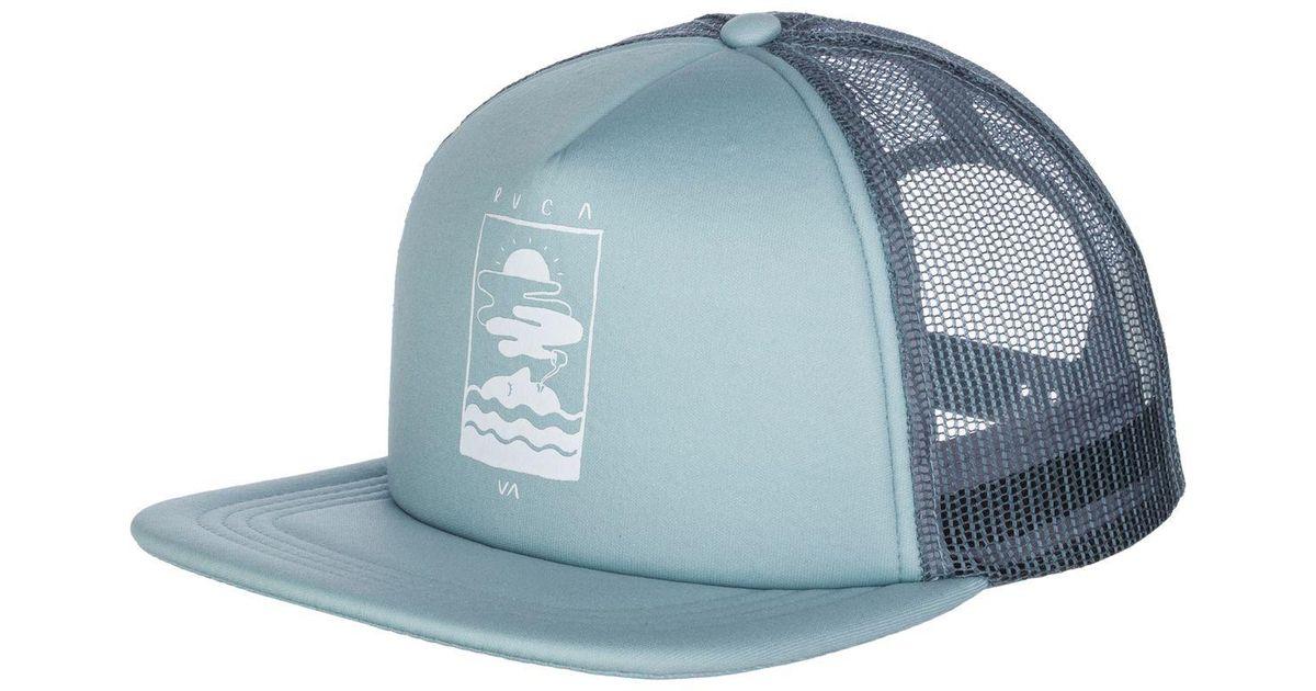 12a5e3cb ... ebay lyst rvca snooze trucker hat in blue for men d8b30 18a48