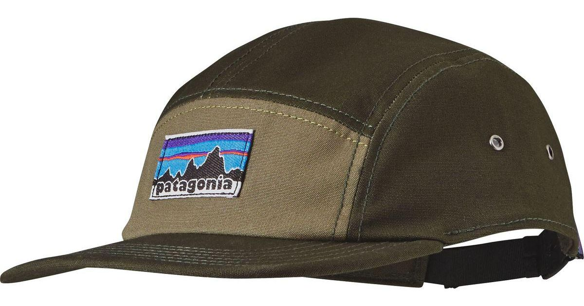 c6454974e99cc Patagonia Retro Fitz Roy Label Tradesmith 5-panel Cap in Green for Men -  Lyst