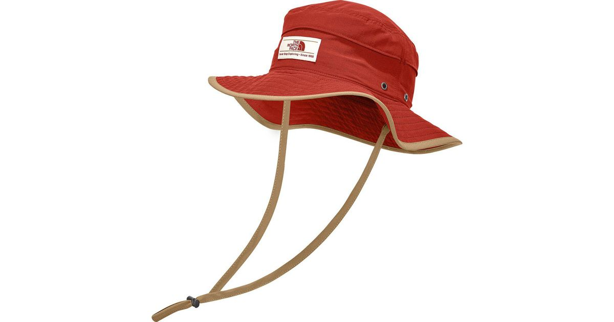 Lyst - The North Face Camp Boonie Hat in Red for Men 25dadf0ad9e3