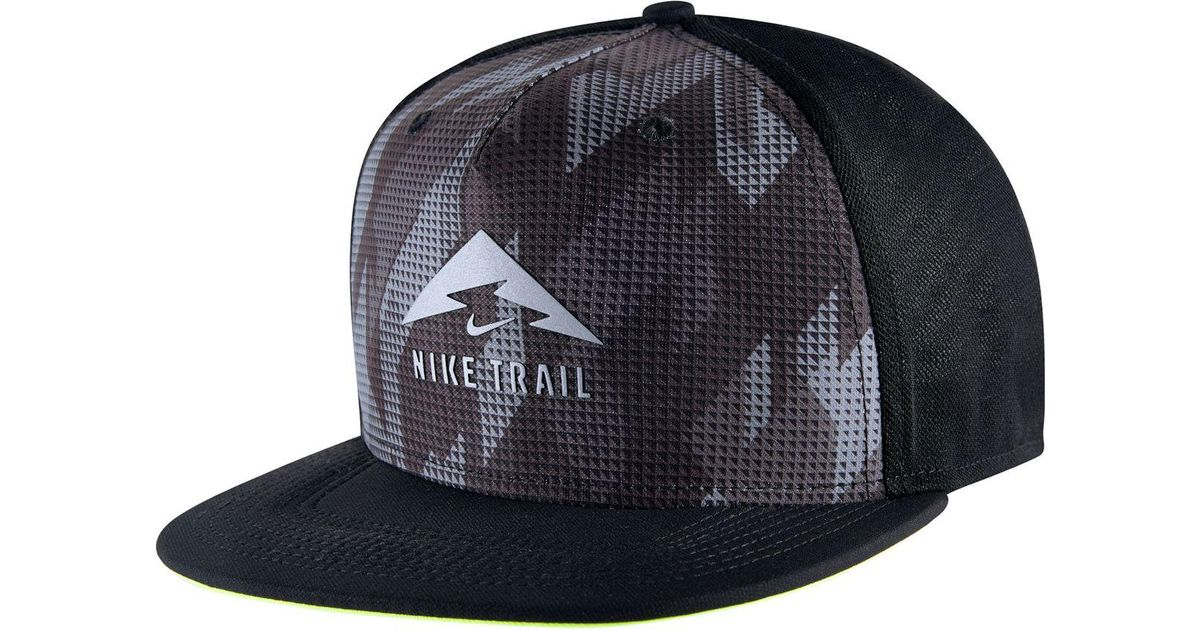 huge selection of 32e1e 9be66 ... aliexpress lyst nike aerobill trail cap in black for men 74a6f 5c49a