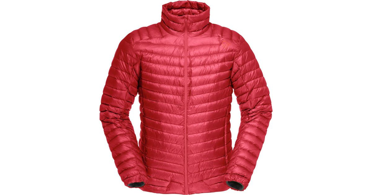 f866a5e7 Lyst - Norrøna Lofoten Super Lightweight Down Jacket in Red for Men