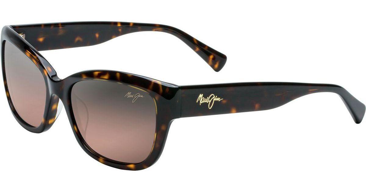 Maui Jim Plumeria Sonnenbrille Schwarz Black Polarisiert 55mm ZXBDN6hn
