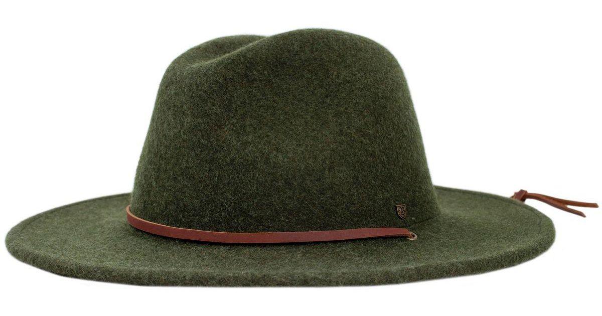 cce3512d7b2 ... inexpensive lyst brixton field hat in green b38f6 417da