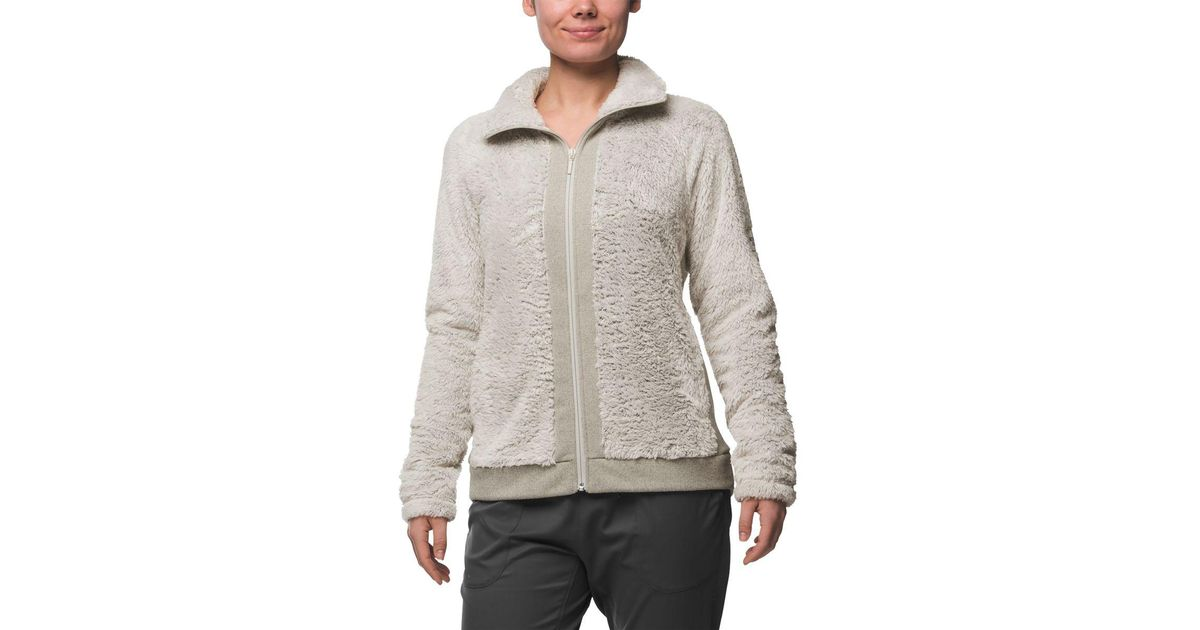 Lyst The North Face Furry Fleece Jacket In Gray