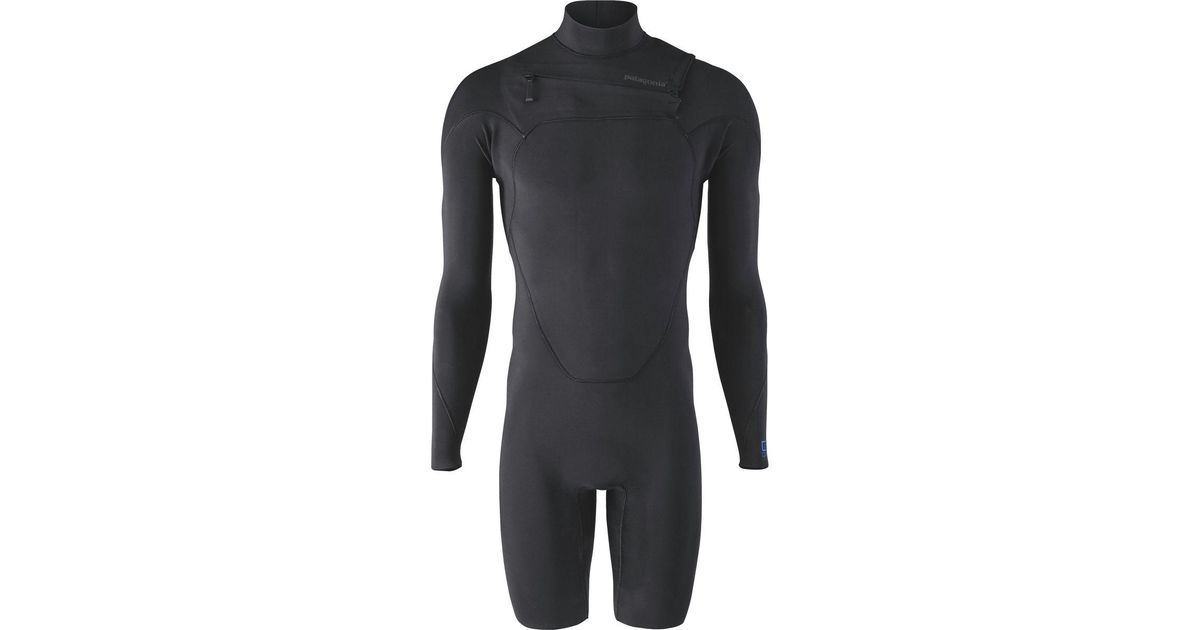ff930282fa Lyst - Patagonia R1 Lite Yulex Front-zip Long-sleeve Spring Suit in Black  for Men