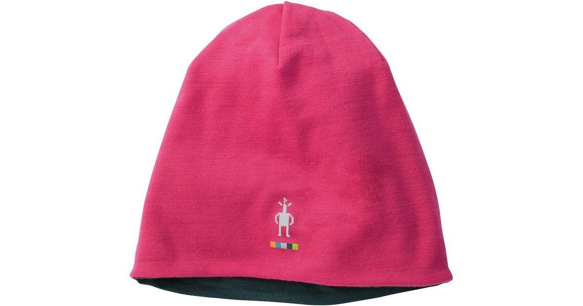 b9e5efee1d7 Lyst - Smartwool Phd Light Reversible Beanie in Pink