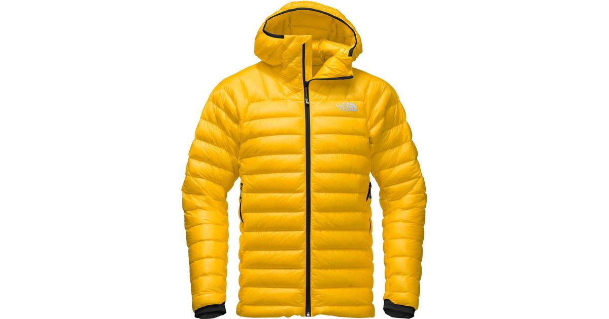 ... Lyst - The North Face Summit L3 Hooded Down Jacket in Yellow ... c284434cb