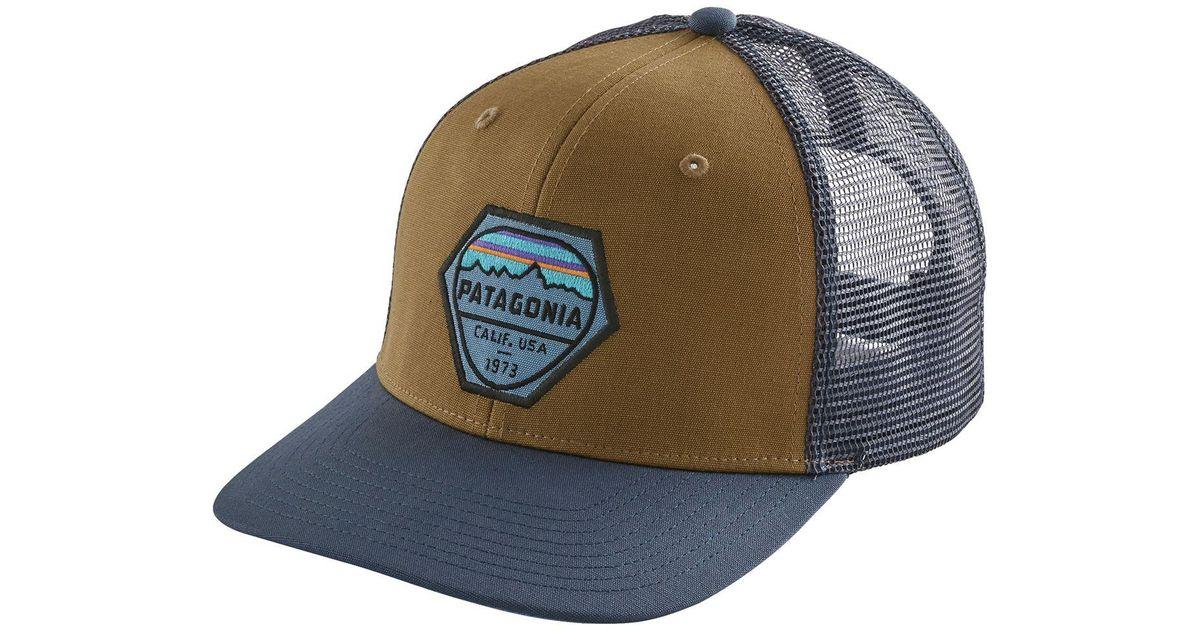 4f8b3c89af8ea Lyst - Patagonia Fitz Roy Hex Trucker Hat in Brown for Men
