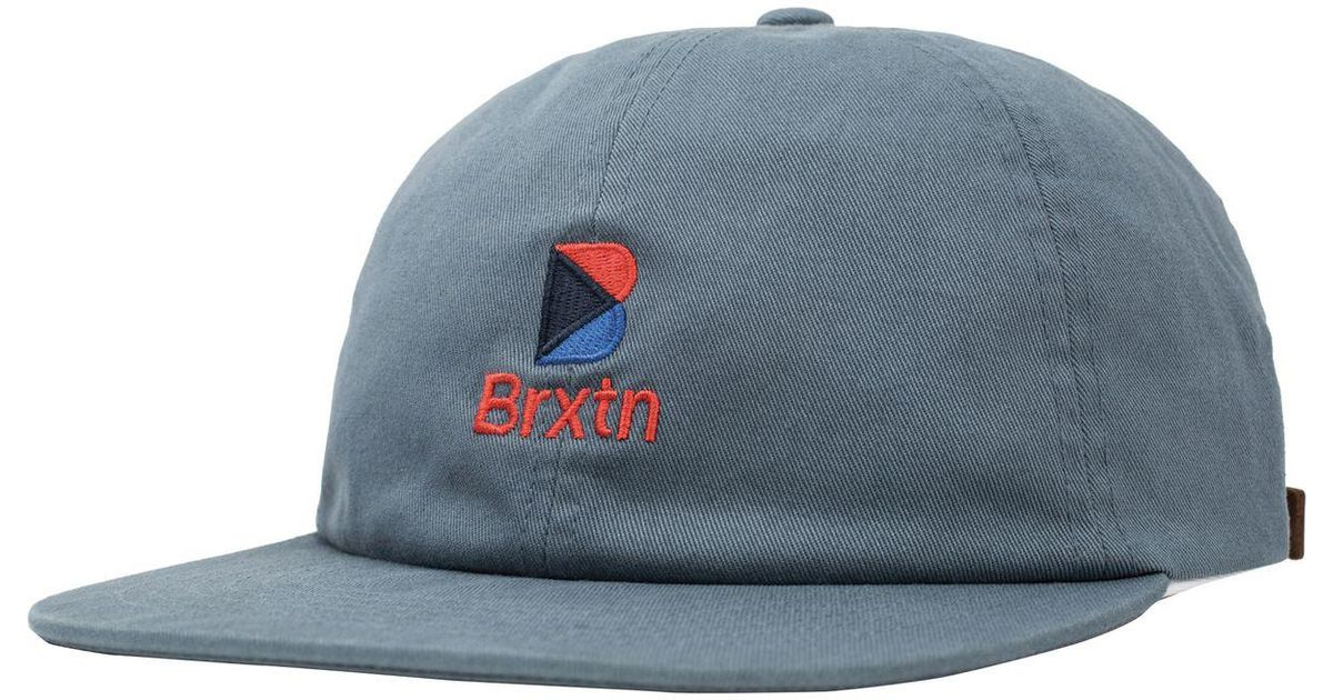 the latest ac4c6 1a17b ... store lyst brixton stowell mp cap in blue for men fd88d 5c17b ...