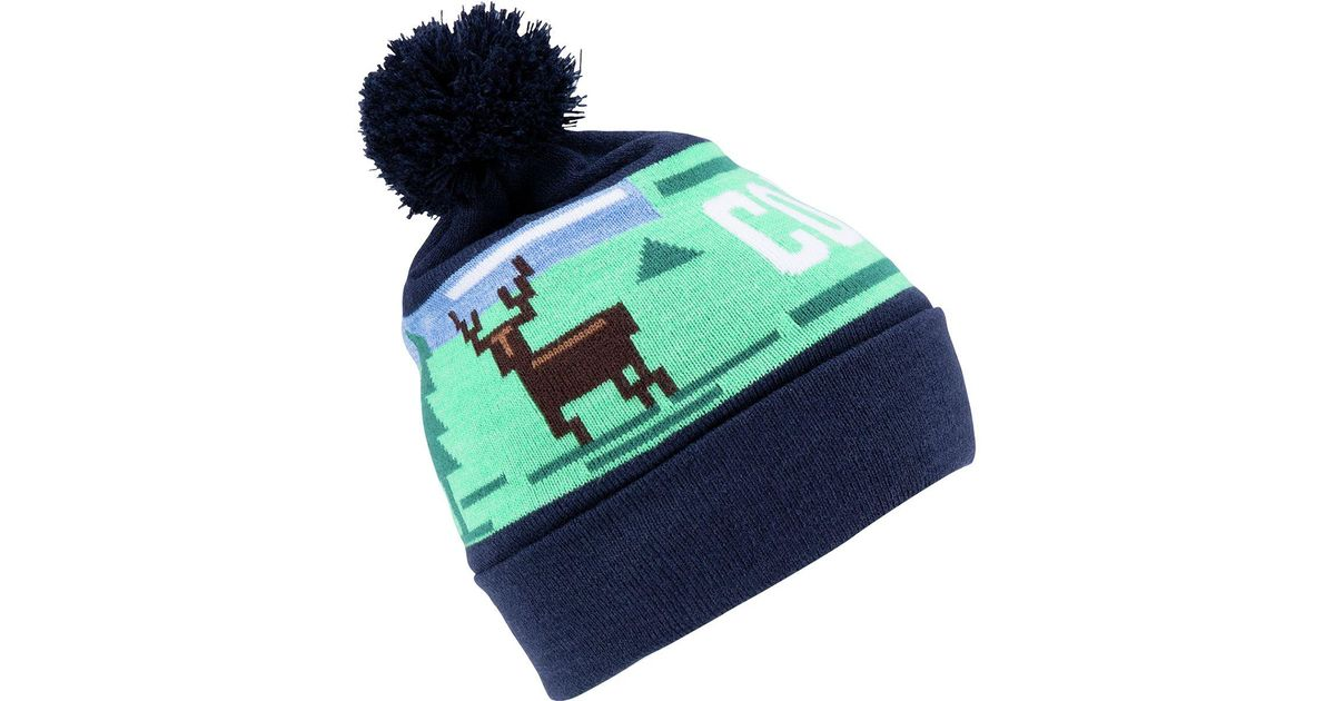Lyst - Coal The Downhill Pom Beanie in Blue 6fc8993ad2f
