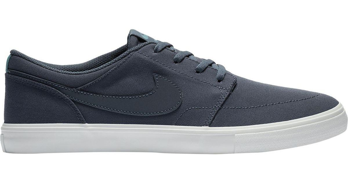 ... Lyst - Nike Sb Solarsoft Portmore Ii Canvas Shoe in Blue sale usa  online 09919 f25f3 ... 7132a2b3997ac