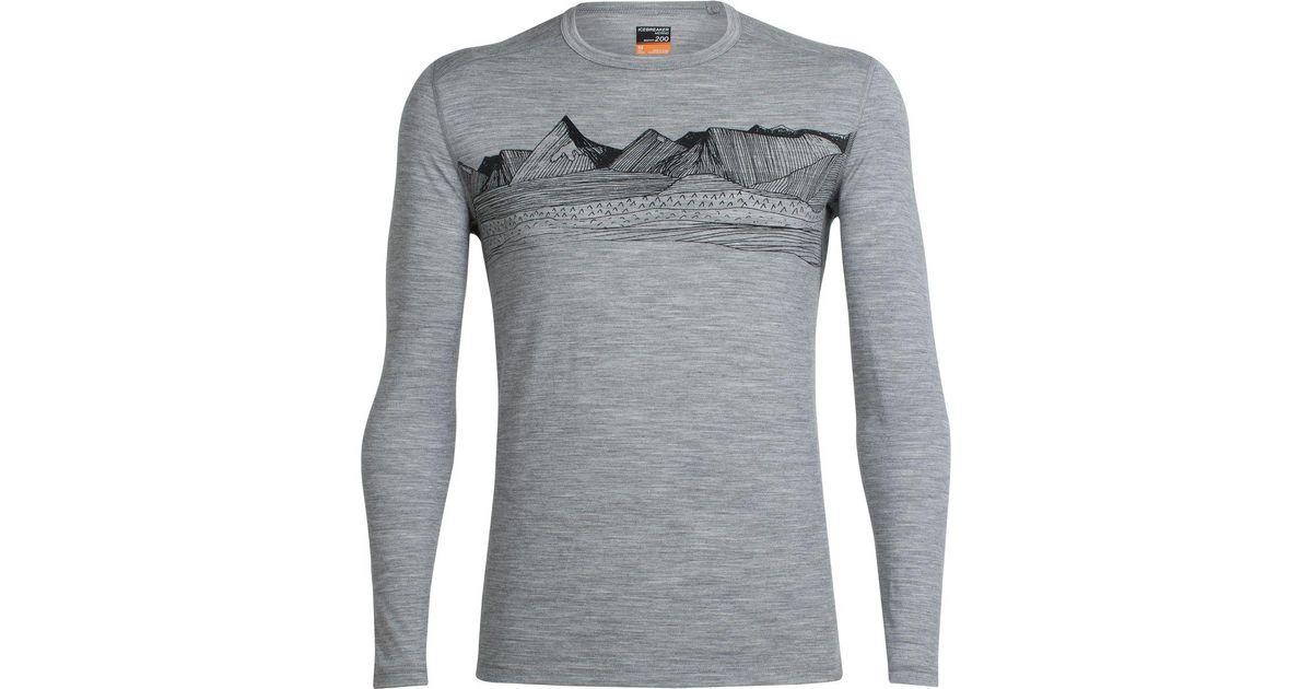 d67724fb0d Lyst - Icebreaker Oasis Long-sleeve Crewe Pyrenees Shirt in Gray for Men