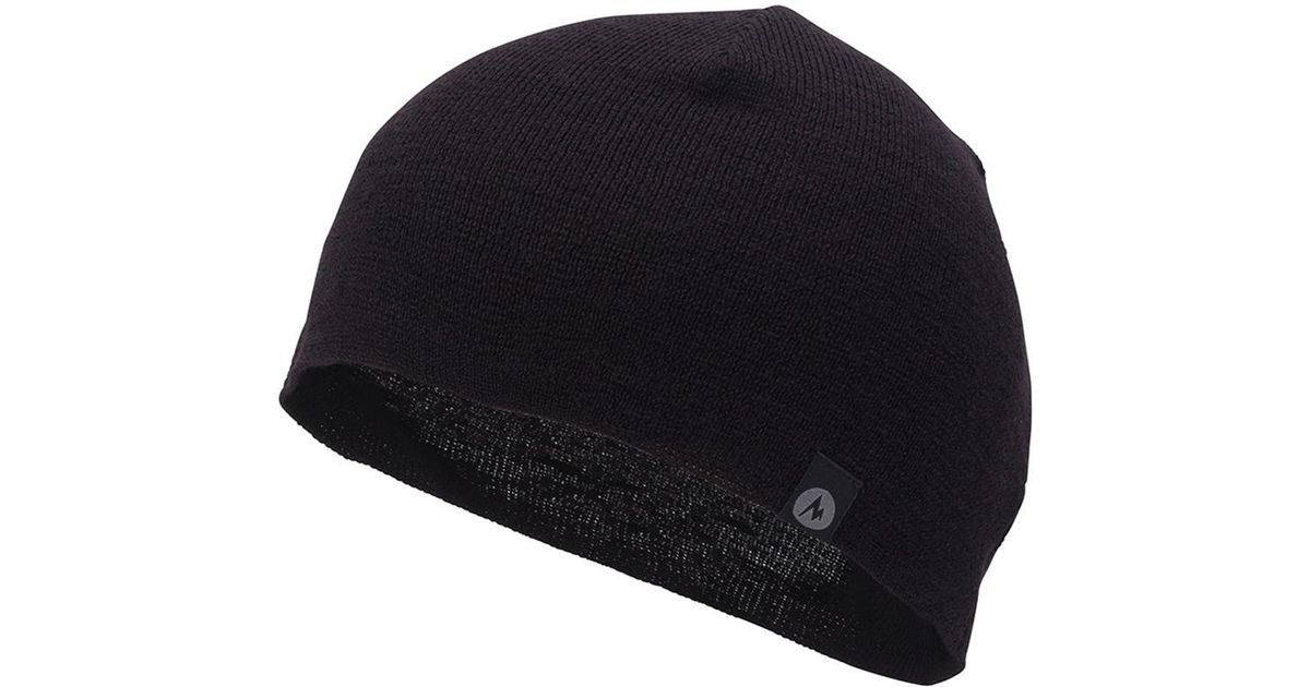 Lyst - Marmot Lightweight Merino Beanie in Black for Men 5929d563416