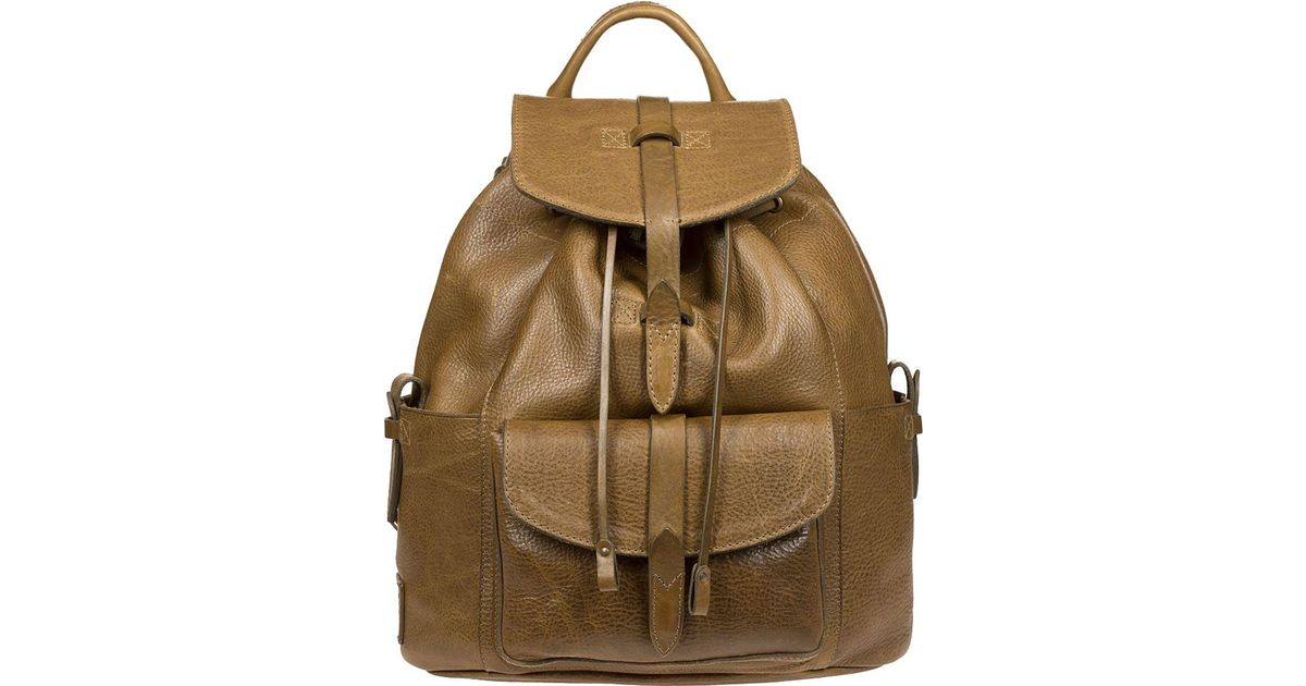 Lyst - Will Leather Goods Rainier Backpack in Green 251ebfff7