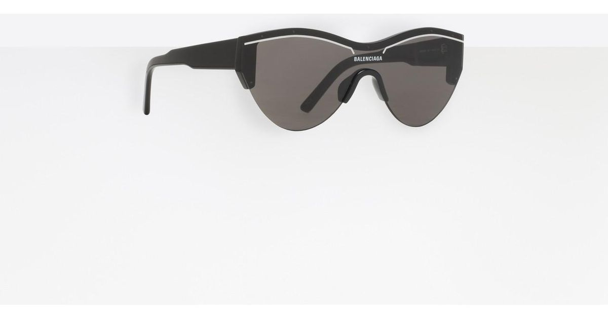 ba09275b597 Balenciaga Ski Cat Sunglasses in Black - Lyst