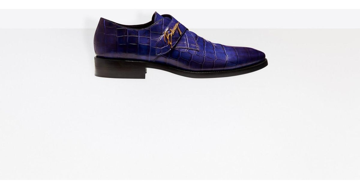 59a2c38f51c6 Lyst - Balenciaga City Evening Monk Strap in Blue for Men