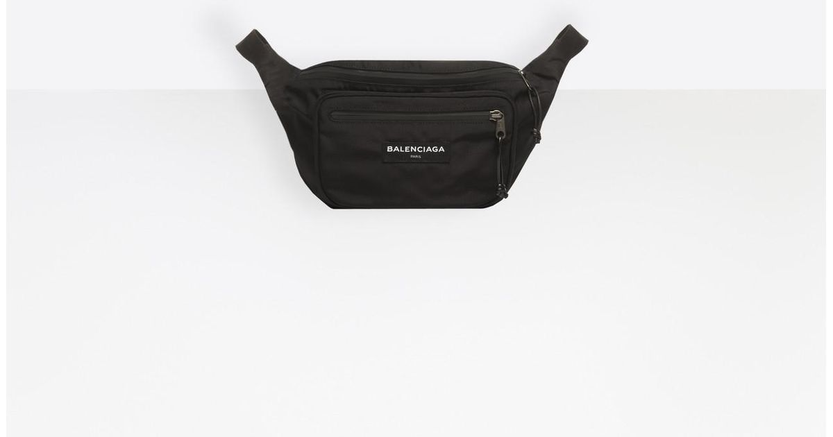 352b4d2b83c3 Balenciaga Explorer Belt Bag in Black for Men - Lyst