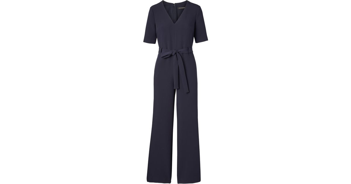 7a40432170b9 Lyst - Banana Republic Petite Belted V-neck Jumpsuit in Blue