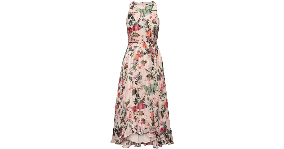0ed981263c Banana Republic Botanical Print Fit-and-flare Maxi Dress in Pink - Lyst