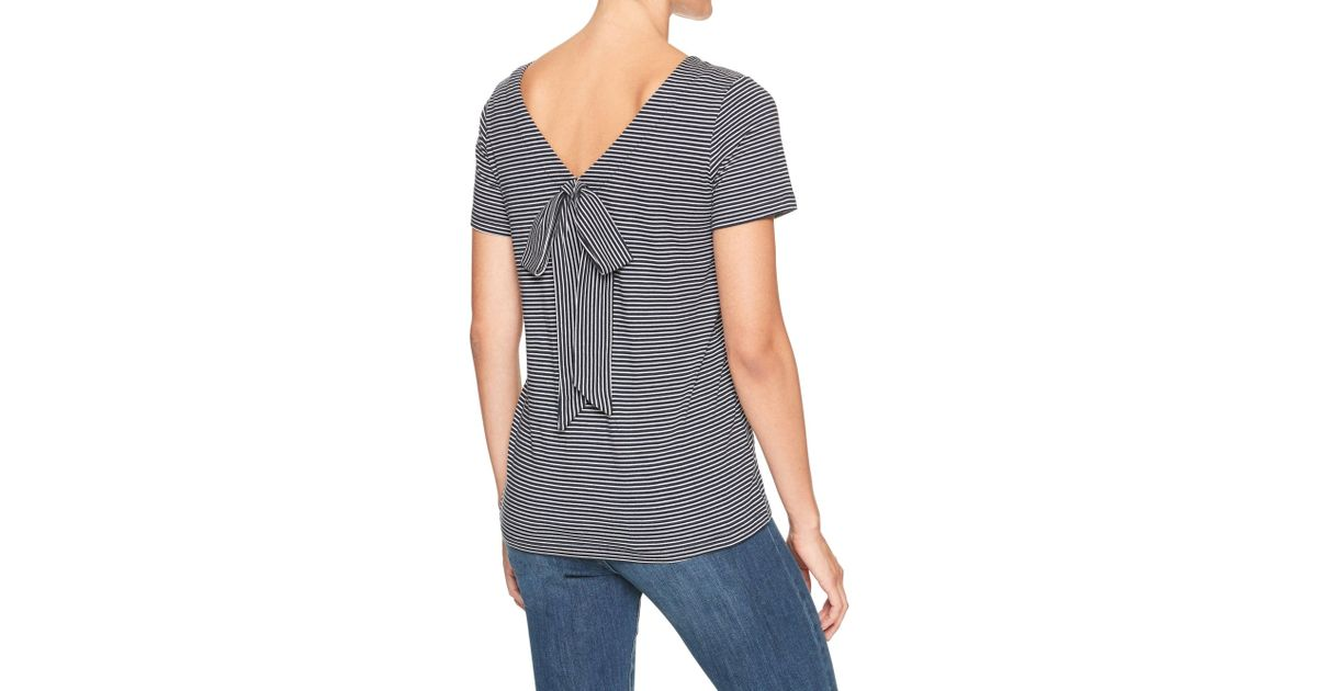 3f80edf19a0403 Lyst - Banana Republic Factory Stripe Bow Back Designer T Shirt in Blue