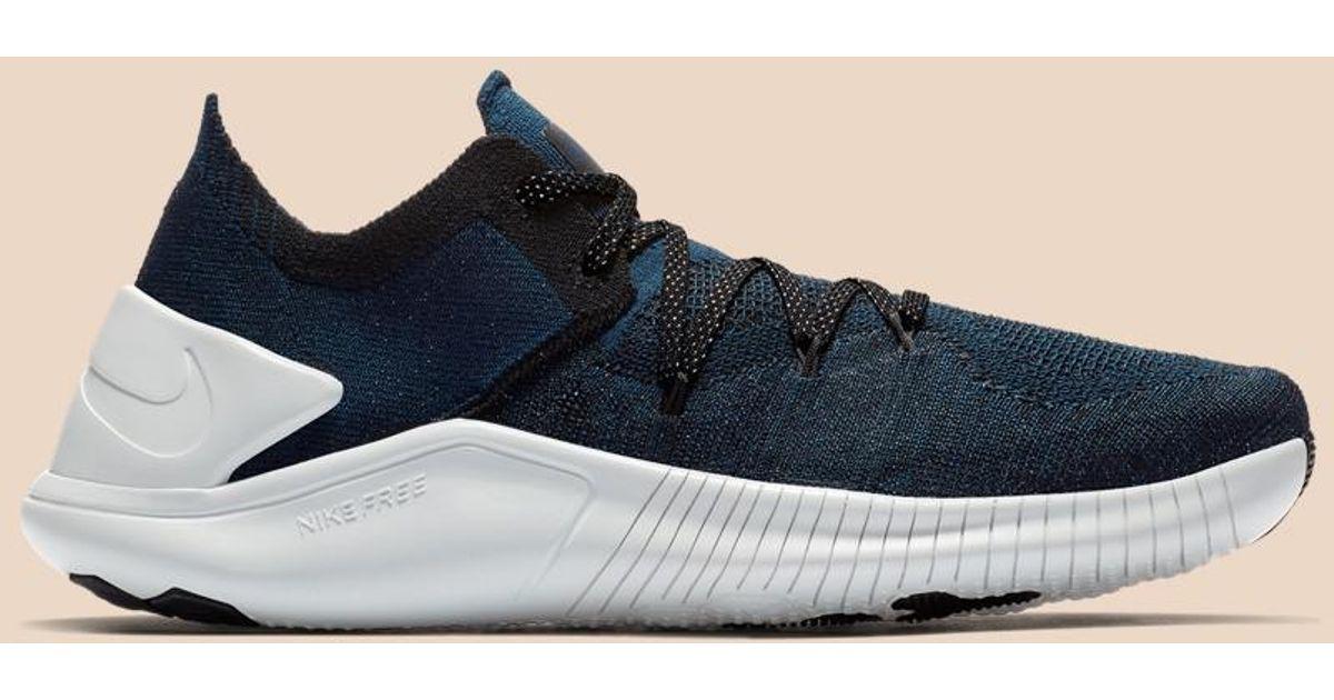 buy popular c3fd6 d6560 Nike Free Tr Flyknit 3 Metallic in Blue - Lyst
