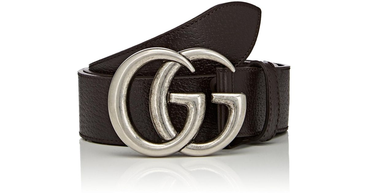 69854d402 Gucci Double G Buckle Leather Belt in Brown - Lyst
