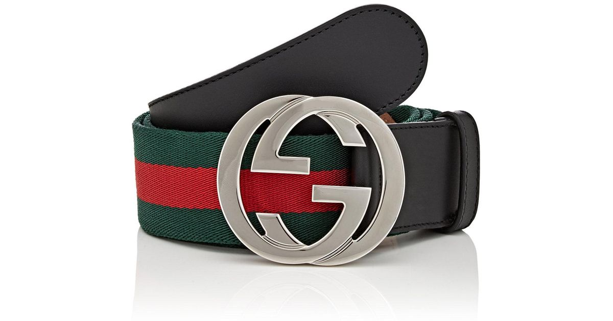 97efe19d820 Red Green And Black Gucci Belt In Atlanta Letgo. Lyst Gucci Striped Canvas  Belt For Men