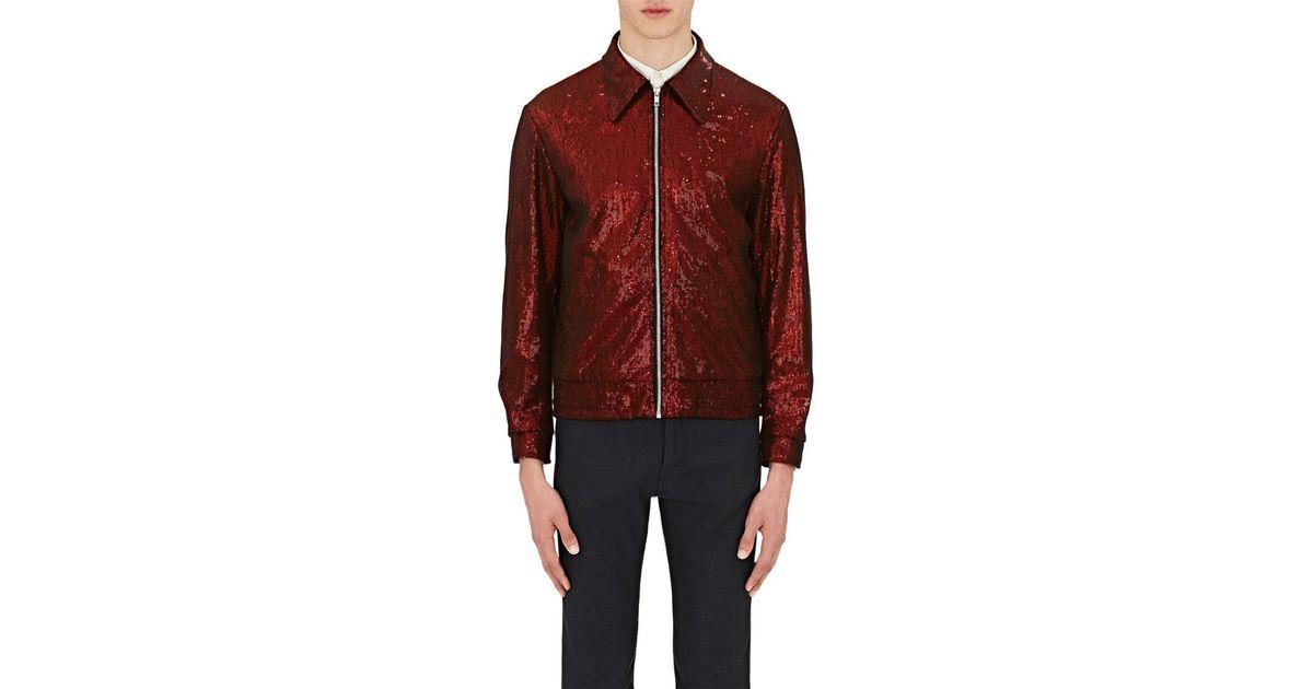 31f19cf4c5c Lyst - Maison Margiela Sequin Bomber Jacket in Red for Men