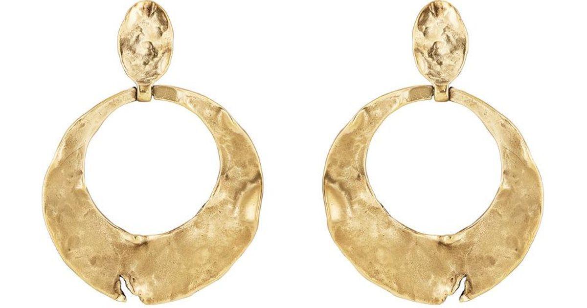 Goossens Paris Womens Pounded Circle Drop Earrings 4jKKcHxMt