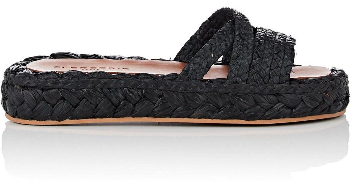 692edd291c3 Lyst - Clergerie Idalie Raffia Sandals in Black