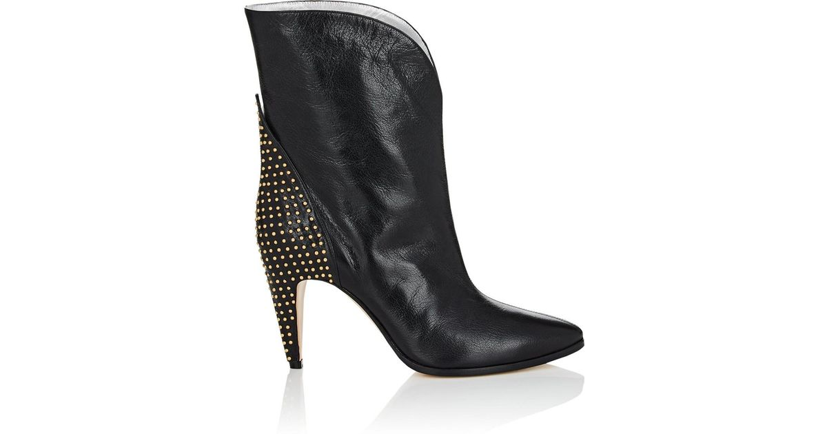9e3315a4b93 Lyst - Givenchy Studded-heel Leather Ankle Boots in Black