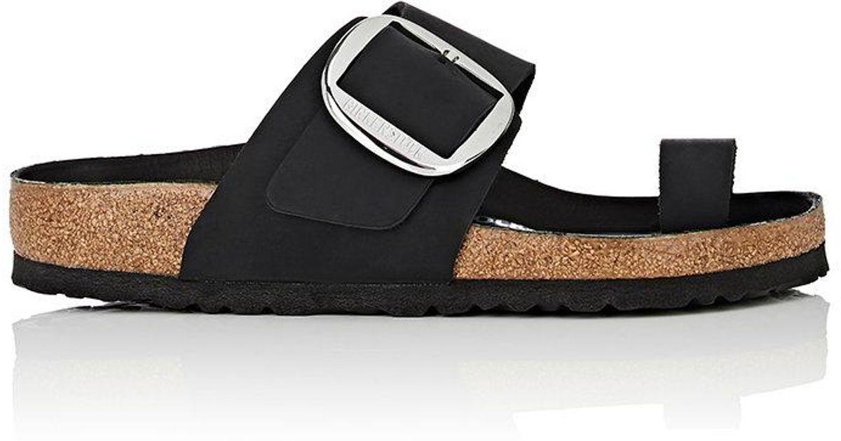 56723c7eb Birkenstock Miramar Leather Sandals in Black - Lyst