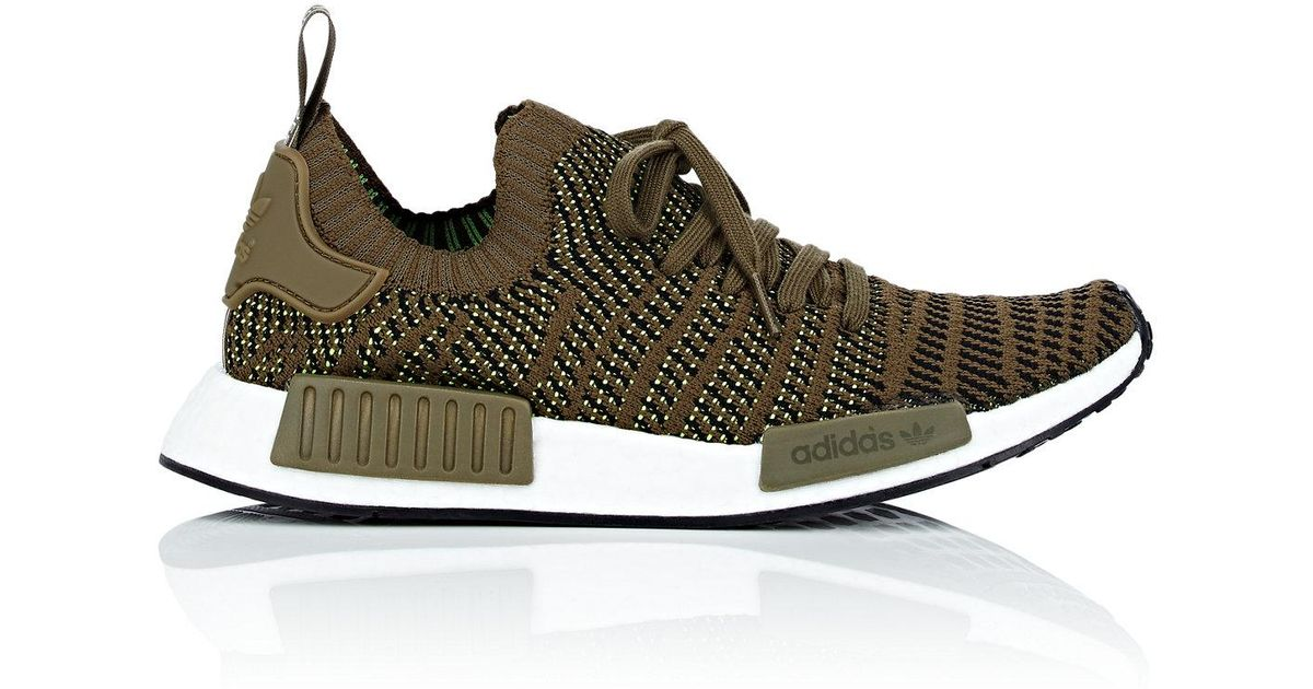 384f0c88173 ... lyst adidas nmd r1 stlt primeknit sneakers in green for men