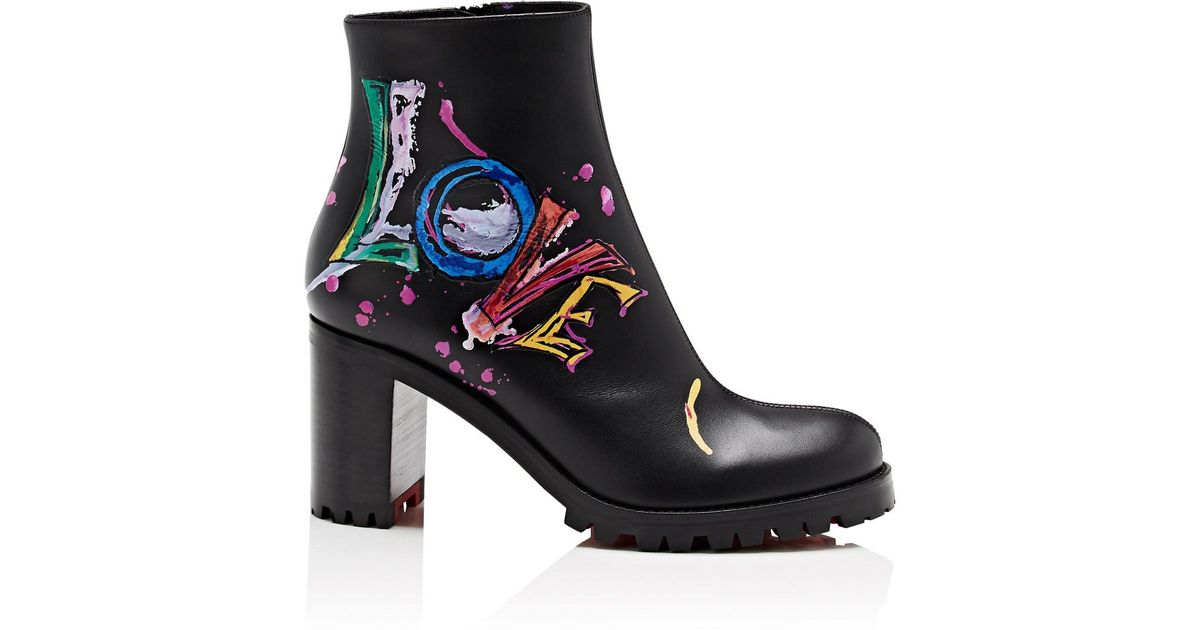 369d6afcb31 Lyst - Christian Louboutin Love Me Leather Ankle Boots in Black