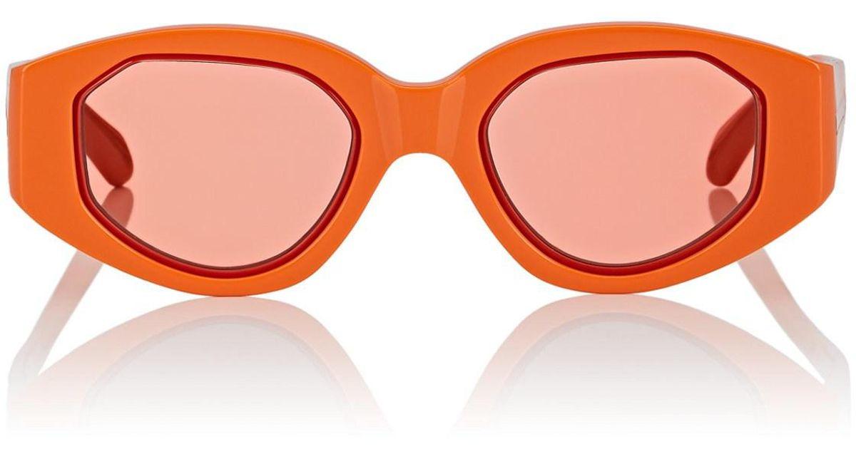 630b6b2e15 Karen Walker Castaway Sunglasses in Orange - Lyst