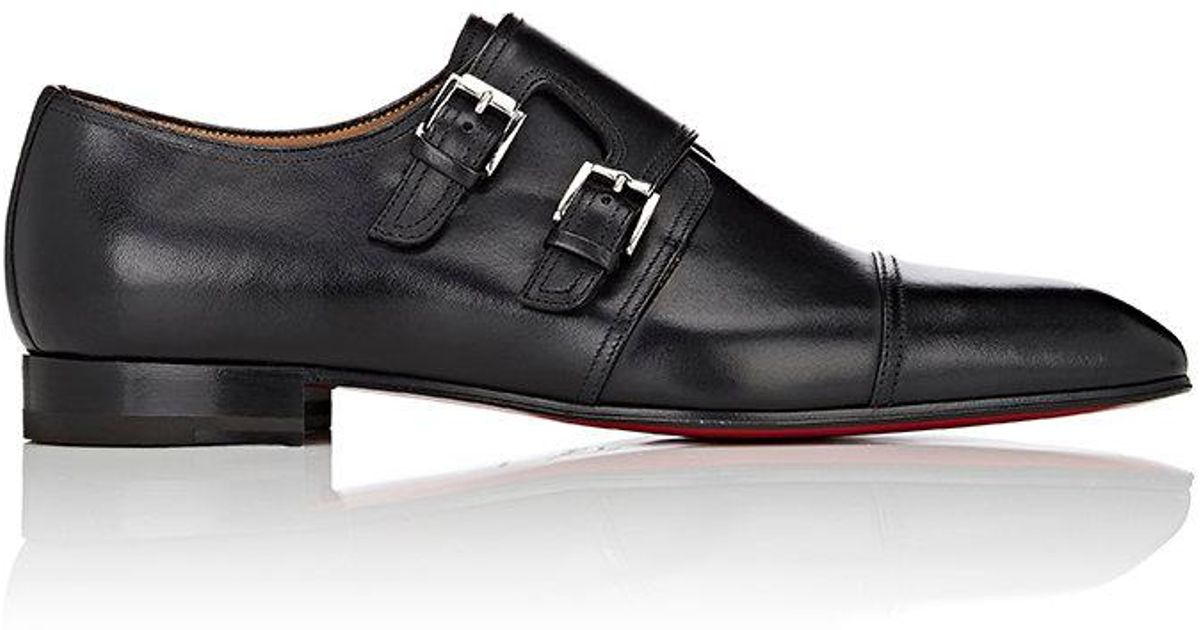 c2e7946f03e8 Lyst - Christian Louboutin Mortimer Leather Double-monk in Black for Men