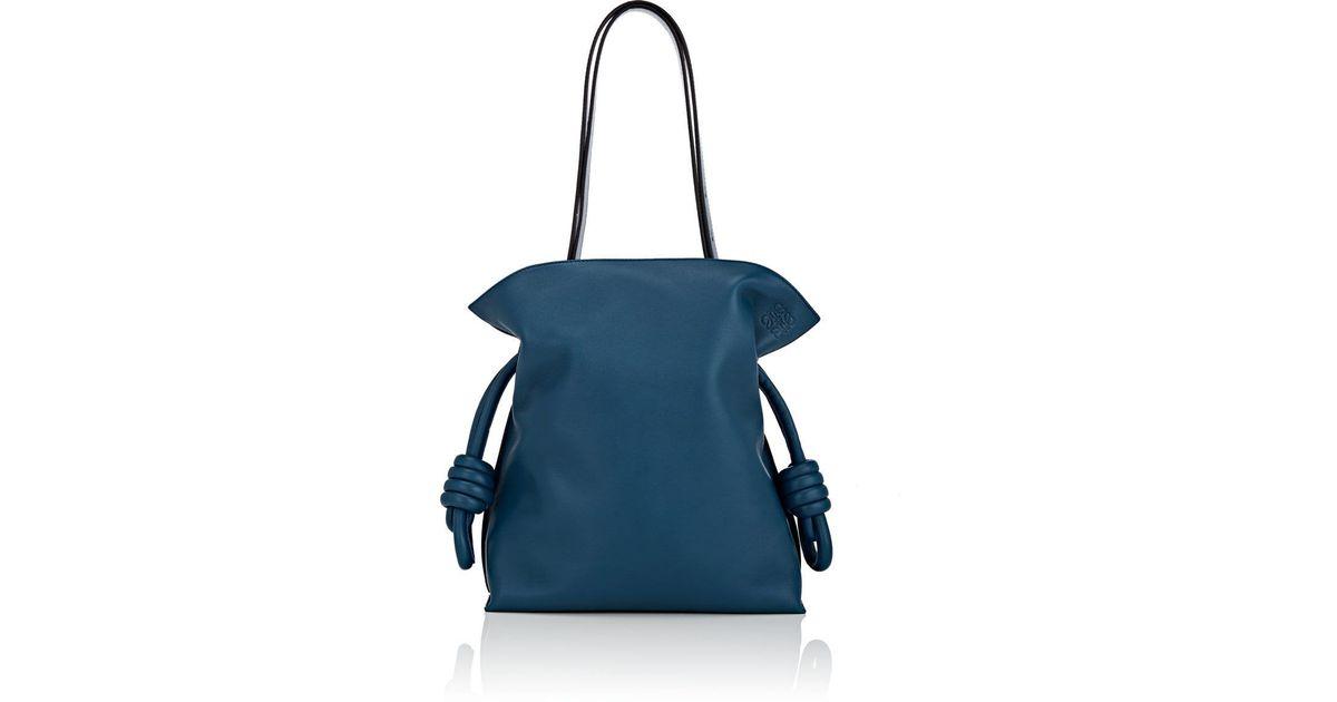 fce95ba52489 Lyst - Loewe Flamenco Knot Leather Bag in Blue