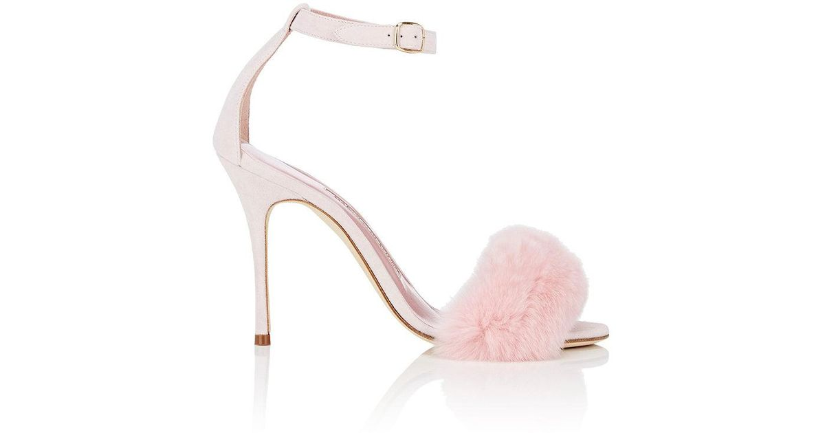 75d8c01c610fa Lyst - Manolo Blahnik Mincha Suede Sandals in Pink