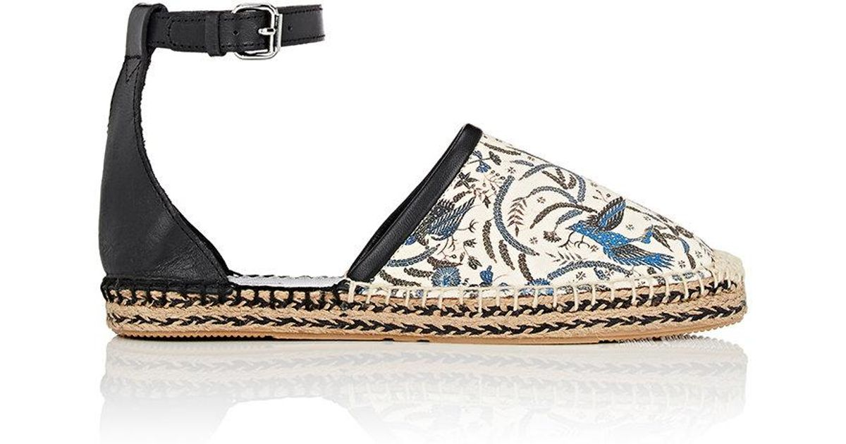 Isabel Marant Carlyce Leather And Cotton Espadrilles t94bkao