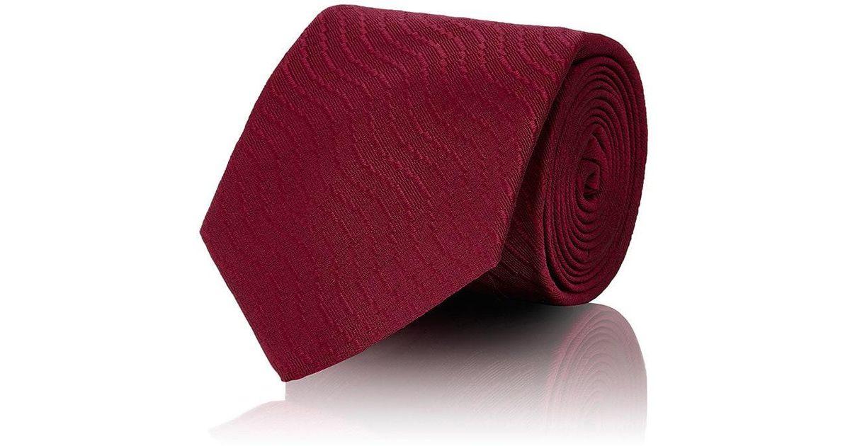 Mens Diagonal-Stripe Silk Necktie Cifonelli HmGqyuW