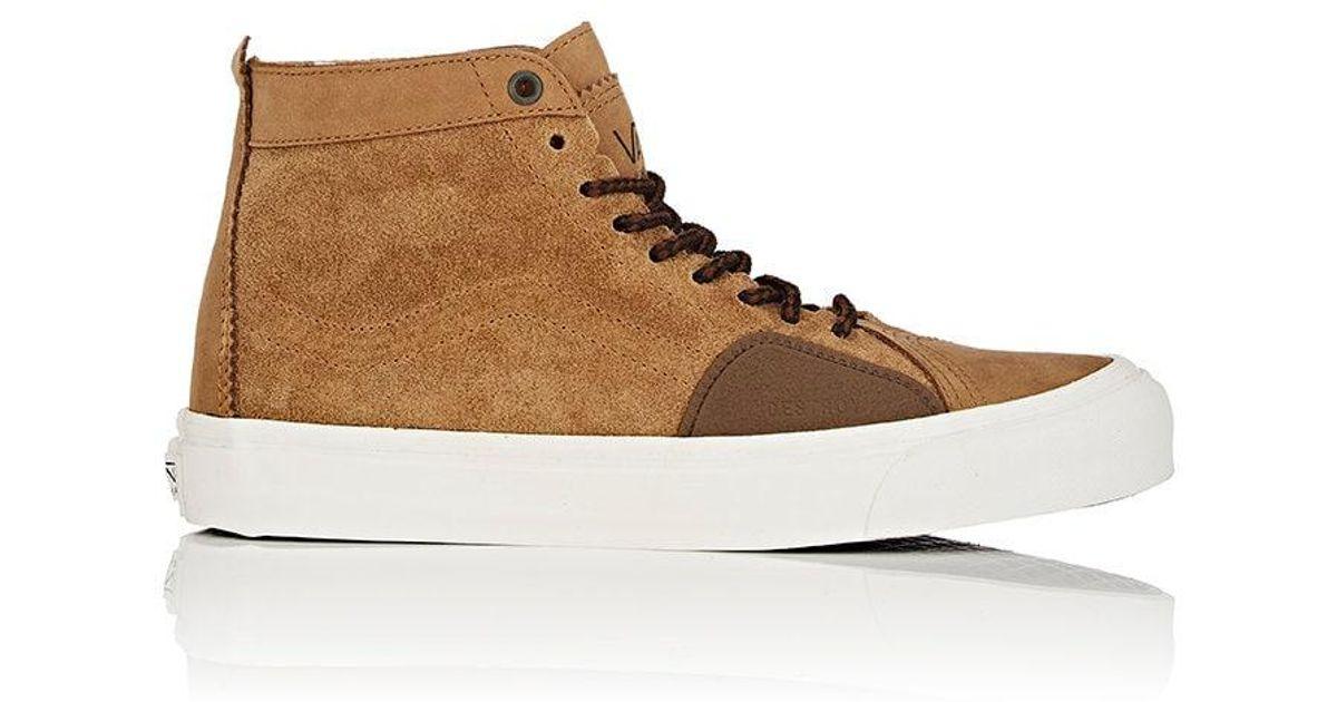 390c30860a Lyst - Vans Sk8 Skool Lx Nubuck   Suede Sneakers in Brown for Men